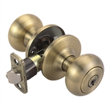 Pro Cambridge Entry  Door Knob, Antique Brass #755223