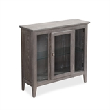 Gray Entryway Curio Cabinet with Interior Light #10000-GR