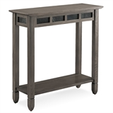 Smoke Gray Oak and Black Slate Console Hall Stand #10059-GR