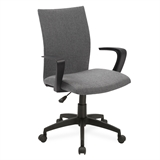 Gray Linen Apostrophe Office Chair w/Black Caster Base #10115GR