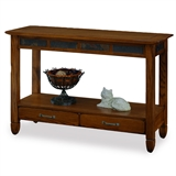 Slatestone Rustic Oak Console Sofa Table #10933