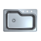 Single Bowl Kitchen Sink, Stainless Steel #110593