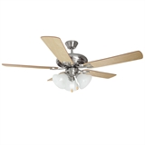 "Bristol 3-Light Ceiling Fan 52"", Satin Nickel #154013"