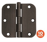 3-1/2 in. x 5/8 in. Radius Oil Rubbed Bronze Door Hinge Value Pack (10 per Pack) #181446