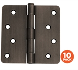 "10-Pack Hinge 4"", Oil Rubbed Bronze #181560"