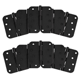 "8-Hole 4"" x 4"", 5/8"" Radius Door Hinge, 10-Pack, Matte Black #188979"