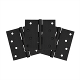 "8-Hole 4"" x 4"", Square Corner, 3-Pack Hinge, Matte Black #188987"