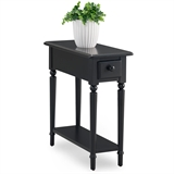 Coastal Narrow Side Table with Shelf #20017-BK
