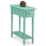 Coastal Narrow Side Table with Shelf #20017-GN