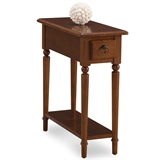 Coastal Narrow Side Table with Shelf #20017-PC