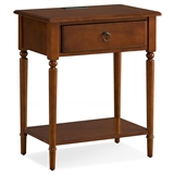 Coastal Nightstand/Side Table with AC/USB Charger #20022-PC