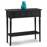 Coastal Narrow Hall Stand/Sofa Table with Shelf #20027-BK