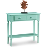 Coastal Narrow Hall Stand/Sofa Table with Shelf #20027-GN