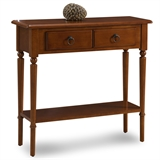 Coastal Narrow Hall Stand/Sofa Table with Shelf #20027-PC