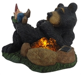 "10"" Solar Bear Sleeping By Fire #304477"