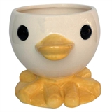 "4.4"" Ceramic Teacup Duck Planter, #308437"