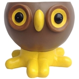 "4.4"" Ceramic Teacup Owl Planter, #308452"