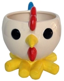 "5.35"" Ceramic Teacup Rooster Planter, #308460"