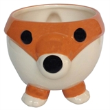 "4.3"" Ceramic Teacup Fox Planter, #308486"
