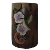 "6"" Solar Distressed Hummingbird Lantern Small #321083"