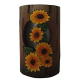 "6"" Solar Distressed Sunflower Lantern Small #321091"