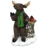 "10"" Let It Snow Moose #329730"