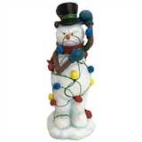 "18"" Snowman Tangled In Lights #329904"