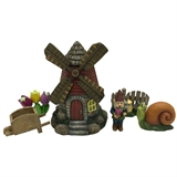 "7"" Windmill Gnome House #330506"