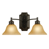 Bristol 2-Light Wall Light, Oil Rubbed Bronze #504407