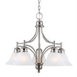 Bristol 5-Light Chandelier, Satin Nickel #510255