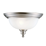Bristol 2-Light Ceiling Light, Satin Nickel #510297