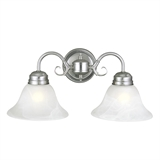 Millbridge 2-Light Wall Light, Satin Nickel #511600