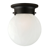 Millbridge 1-Light Flush Mount Round Ceiling Light, Oil Rubbed Bronze #514521