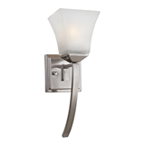 Torino 1-Light Wall Sconce, Satin Nickel #514786