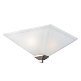Torino Two-Light Ceiling Mount Light with Snow Glass, UL Listed, Satin Nickel #514794