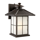 Gladstone 1-Light Indoor/Outdoor Fluorescent Wall Light, Oil Rubbed Bronze #516781