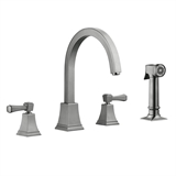 Torino 2-Handle Standard Kitchen Faucet with Side Sprayer in Satin Nickel #522110