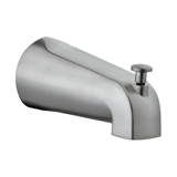 Slip on Pull-up Wall Mount Tub Diverter Spout, Satin Nickel Finish #522920