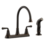 Eden 2-Handle Standard Kitchen Faucet with Side Sprayer, Oil Rubbed Bronze #524736