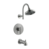 Geneva Tub and Shower Faucet, Satin Nickel #525691