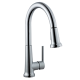 Geneva Single-Handle Pull-Down Sprayer Kitchen Faucet in Polished Chrome #525725