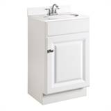 Wyndham 18 in. W x 16 in. D Unassembled Vanity Cabinet Only in White Semi-Gloss #531723