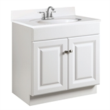 Wyndham 24 in. W x 18 in. D Unassembled Vanity Cabinet Only in White Semi-Gloss #531731