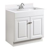 Wyndham 30 in. W x 18 in. D Unassembled Vanity Cabinet Only in White Semi-Gloss #531749
