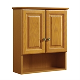 Claremont 21 in. W x 26 in. H x 8 in. D Bathroom Storage Wall Cabinet in Honey Oak #531962