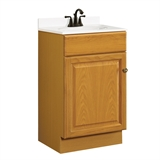 Claremont 18 in. W x 16 in. D One Door Unassembled Vanity Cabinet Only in Honey Oak #531970