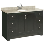 "Ventura Fully Assembled 2-Door 4-Drawer Vanity without Top, 48"", Espresso #539627"