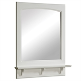 Concord 31 in. H x 24 in. W Framed Wall Mirror with Shelf in White Gloss #539916