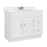 Concord 36 in. W x 21 in. D Unassembled Vanity Cabinet Only in White Gloss #541052