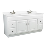 Concord 60 in. W x 21 in. D Unassembled Vanity Cabinet Only in White Gloss #541078